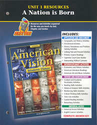 The American Vision: Modern Times, Unit 1 Resources