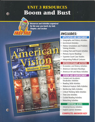 The American Vision: Modern Times, Unit 3 Resources