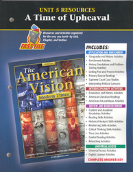 The American Vision: Modern Times, Unit 5 Resources