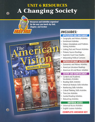 The American Vision: Modern Times, Unit 6 Resources