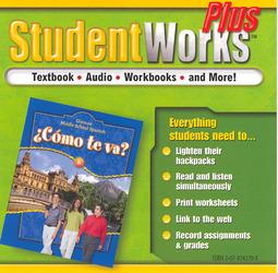 ¿Cómo te va? Level B Nivel azul, StudentWorks Plus CD-ROM