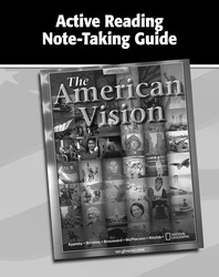 The American Vision, Active Reading Note-Taking Guide, Workbook