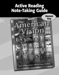The American Vision, Active Reading Note-Taking Guide, Answer Key