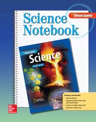 Glencoe iScience, Level Blue, Grade 8, Science Notebook, Student Edition