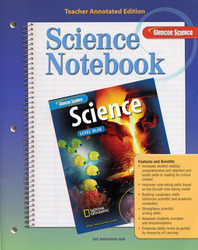 Glencoe iScience, Level Blue, Grade 8, Science Notebook, Teacher Edition