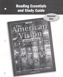 The American Vision Modern Times, Reading Essentials and Study Guide Answer Key