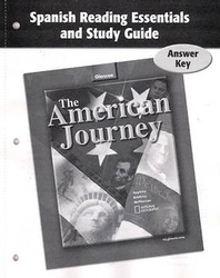 The American Journey and The American Journey Reconstruction to the Present, Spanish Reading Essentials and Study Guide, Answer Key