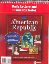 The American Republic to 1877, Daily Lecture and Discussion Notes