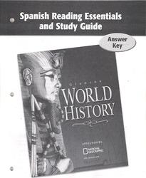 Glencoe World History, Spanish Reading Essentials and Study Guide Answer Key