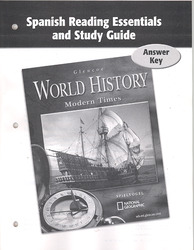 Glencoe World History Modern Times, Spanish Reading Essentials and Study Guide, Answer Key
