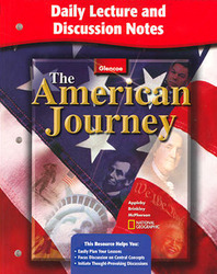 The American Journey, Daily Lecture and Discussion Notes