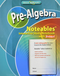 Pre-Algebra, Noteables: Interactive Study Notebook with Foldables