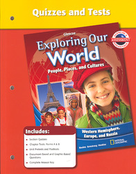 Exploring Our World, Western Hemisphere with Europe & Russia, Quizzes and Tests