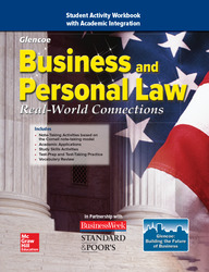 Business and Personal Law: Real World Connections, Student Activity Workbook