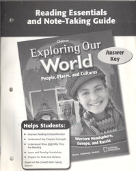 Exploring Our World: Western Hemisphere, Europe, and Russia, Reading Essentials and Note-Taking Guide Workbook Answer Key