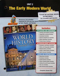 Glencoe World History: Modern Times, Unit Resources 2