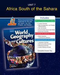 World Geography and Cultures, Unit Resources 7