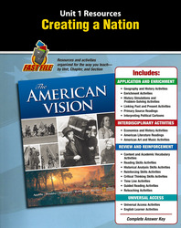 The American Vision, Unit Resource 1