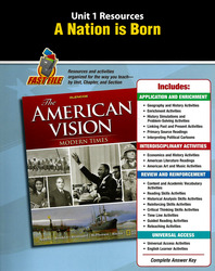 The American Vision: Modern Times, Unit Resources 1