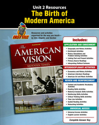 The American Vision: Modern Times, Unit Resources 2