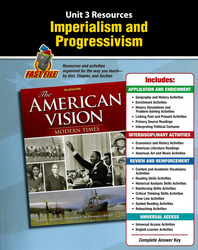 The American Vision: Modern Times, Unit Resources 3