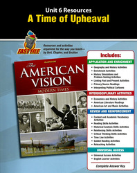 The American Vision: Modern Times, Unit Resources 6