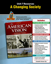 The American Vision: Modern Times, Unit Resources 7