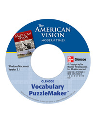 The American Vision: Modern Times, Vocabulary Puzzlemaker CD-ROM