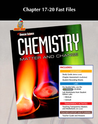 Chemistry: Matter & Change, Chapter 17-20 Fast Files