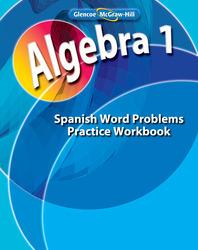 Algebra 1, Spanish Word Problems Practice Workbook
