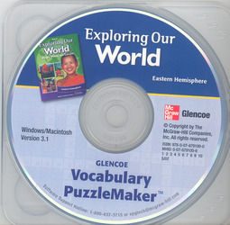 Exploring Our World: Eastern Hemisphere, Vocabulary PuzzleMaker