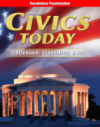 Civics Today: Citizenship, Economics, & You, Vocabulary Puzzlemaker
