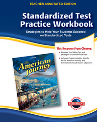 The American Journey, Standardized Test Practice Workbook Teacher Edition