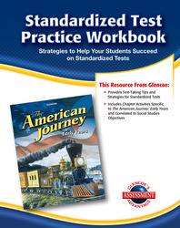 The American Journey, Early Years, Standardized Test Practice Workbook