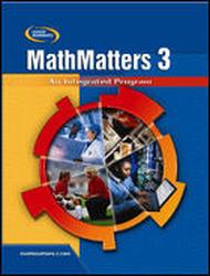 MathMatters 3: An Integrated Program, StudentWorks DVD