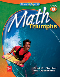 Math Triumphs, Grade 6, Student Study Guide, Book 2: Number and Operations