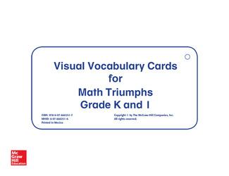Math Triumphs, Grades K-1, Vocabulary Cards