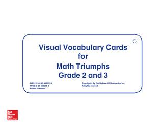 Math Triumphs, Grades 2-3, Vocabulary Cards
