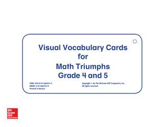 Math Triumphs, Grades 4-5, Vocabulary Cards