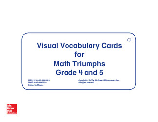 Math Triumphs, Grades 4-5, Vocabulary Cards