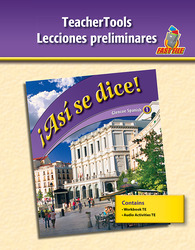¡Así se dice! Level 1, TeacherTools Preliminary Lessons