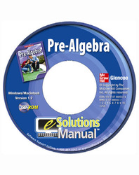 Pre-Algebra, eSolution Manual Plus CD-ROM