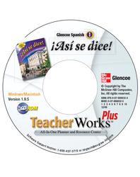 ¡Así se dice! Level 1, TeacherWorks Plus CD-ROM