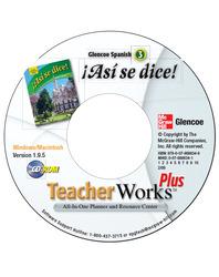 ¡Así se dice! Level 3, TeacherWorks Plus CD-ROM