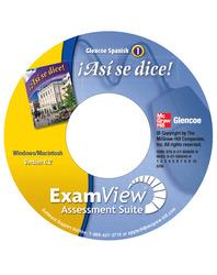 ¡Así se dice! Level 1, Interactive ExamView CD-ROM