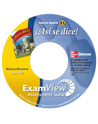 ¡Así se dice! Level 2, ExamView Assessment Suite CD-ROM