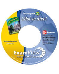 ¡Así se dice! Level 3, ExamView Assessment Suite CD-ROM