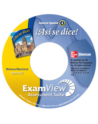 ¡Así se dice! Level 4, ExamView Assessment Suite CD-ROM