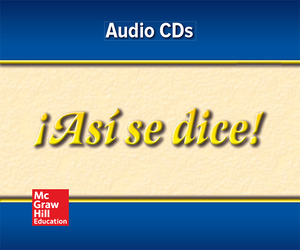 ¡Así se dice! Level 4, Audio Program