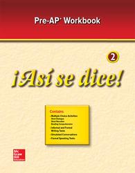 ¡Así se dice! Level 2, Pre-AP Preparation and Practice Workbook